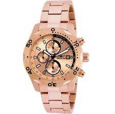 Invicta Specialty 17752 Men's Round Rose Gold Tone Chronograph Date Analog Watch