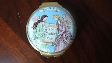 MARY KAY GOLDEN RULE HALCYON DAYS BILSTON & BATTERSEA ENAMELED HINGED BOX