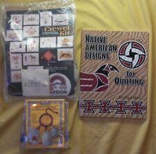 Lot Native American Designs for Quilting Kit Pueblo Crewel Dreamcatcher Kit