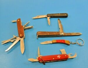 Group of 5 Multi-Tool Folding Pocket Knives Boy Scouts Imperial Ireland NRA