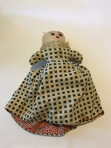 1930s Vintage Topsy Turvy Black African American White Cloth Rag Doll- Folk Art