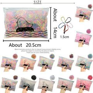 1000pcs Girl Colorful Fashion Disposable Rubber Band Elastic Hair Band Art Craft
