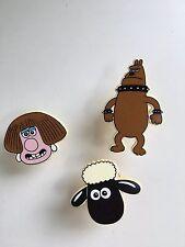 3x Wallace y Gromit caracteres Vintage con ventosas