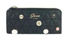 Guess Bourse Fleur SLG Slim Zip Wallet Black