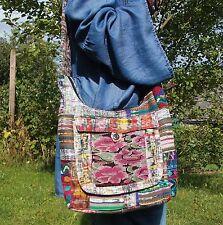 Festival Blumen Tasche bestickt Ethno Hippie Guatemala Mexiko Boho Hobo Bag