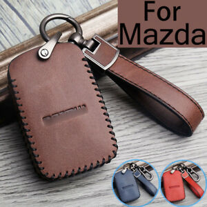 Name and Logo Leather Keychain for Mazda AUGDP1005
