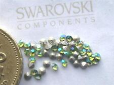 48 x Swarovski 6ss / 14pp Peridot AB silver-foiled #1028 Xilion chatons
