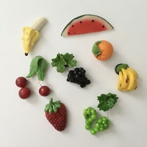 Fruit FRIDGEREFRIGERATOR MAGNETS Set Of 8 Fruits New!