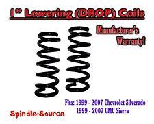 "1999 - 2006 GMC Sierra/Chevy Silverado 1500 V8 1"" Lowering Drop Coils Spring Kit"