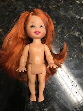 NUDE KELLY DOLL EYES LonG Red HAIR BARBIE SISTER FOR OOAK