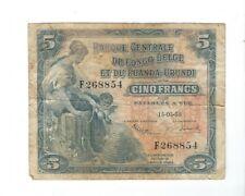 Congo Belge - 5 Francs, 1958
