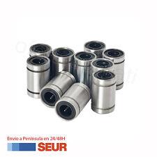 Kit Pack 10 Cojinete Rodamiento Lineal Bolas 8mm LM8UU para Impresora 3D
