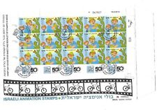 ISRAEL FDC FOR  ANIMATION SHEET STAMPS 2010 YEAR