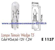 LOT 10 LAMPE AMPOULE TEMOIN WEDGE T5 12V 12 Volts 1,2W Culot W2x4,6d