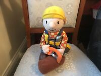 "BOB THE BUILDER 12"" SOFT TOY PLUSH WITH SOUND WORKING SEE DESCRIPTION"