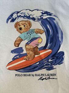 NWT Polo Ralph Lauren WHITE SURF SURFER BEACH BEAR Sweatshirt Fleece Hoodie 2XB