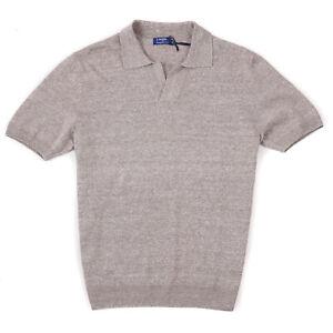 Barba Napoli S/S 2021 Slim-Fit Melange Linen Cotton Polo Shirt M (Eu 50) $350