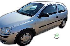 VAUXHALL Corsa C mk2 3 PORTE 2000-2006 serie di deflettori vento anteriore 2pc HEKO