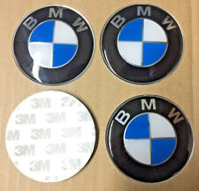 4x (Sticker) 65mm BMW Blue Wheel Centre Cap Hub Caps Sticker Logo UK Stock