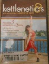Kettlenetics 2 DVD Set 3 Workouts Kettlebell Elements Kb FlowMotion Basics
