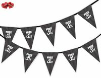 Divorce Party Bunting Banner 15 flags - At Last Free - by Party Decor