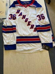 NWT Mens Fanatics NHL New York Rangers MATS ZUCCARELLO Away Hockey Jersey Sz 2XL