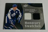 BORJE SALMING - 2009/10 UD TRILOGY - HONORARY SWATCHES - DUAL JERSEY -