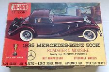 1935 MERCEDES-BENZ 500K ROADSTER LIMOUSINE MODEL KIT, JO-HAN, OPEN BOX, COMPLETE