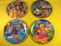 4 Vintage McDonalds Plates Ronald Grimace Birdie Hamburglar Playing with Animals