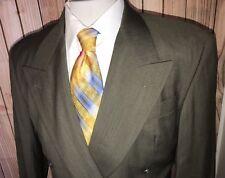 Hugo Boss Mens Blazer Jacket Green Sz 38R Wool Chabrol Chanson Double Breasted
