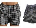 3 6 12 Pack Mens Boxers 100% Cotton Underwear  Trunk Plaid Shorts Size S~2XL