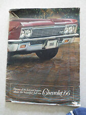 Original 1966 Chevrolet advertising booklet for Caprice & Impala & Bel Air