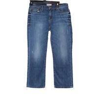 BKE Women's Blue Payton Buckle Cropped Denim Jeans - Size 27