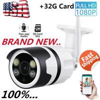 Wireless WIFI IP Camera 1080P HD Network CCTV Cam Security IR Night Vision 2019