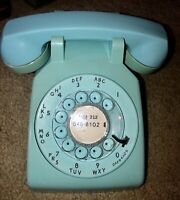1969 Teal/Aqua/Lt Blue Western Electric Bell System Rotary Dial Desk Phone