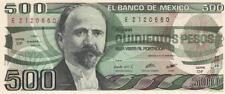 A   SAISIR   BILLET  DE   500   PESOS    1983     .  MEXIQUE   .  superbe  !