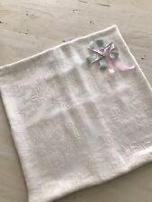 Rachel Ashwell Shabby Chic Couture Damask & Grain Linen Pillow Cover & Brooch
