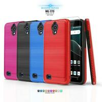 for AT&T AXIA (QS5509A), [Modern Series] Phone Case Hybrid Cover +Tempered Glass
