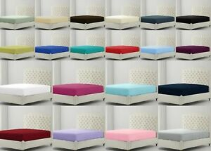NEW Single Double Super King BUNK BED Easy Care PERCALE Soft Fitted Bed Sheet