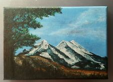 Yellowstone National Park Original Painting 5x7 Unframed Stretched Canvas Acryli