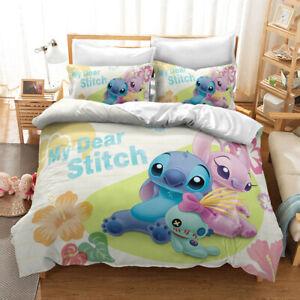 Stitch 3D Print Bedding Set Duvet Quilt Cover Pillowcase Anime Gift