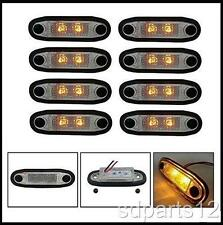 8 x 12V SMD 2 LED ORANGE FEUX DE GABARIT 4X4 SUV BAR PARE BUFFLE MARCHE PIEDS