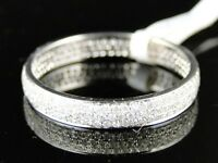 14K Womens White Gold Diamond Wedding Eternity Style Round Band Ring .60 Ct