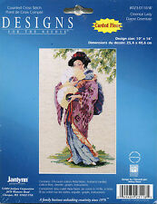 """JANLYNN ORIENTAL LADY COUNTED CROSS STITCH KIT - 10""""X16"""" 14 Count"""