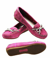 WOMENS TIMBERLAND EARTHKEEPERS CASKA MOCCASIN PINK SUEDE SLIP ON DECK SHOES