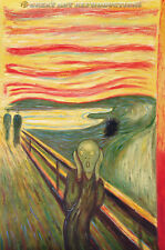 """""""The SCREAM"""" or """"The Cry"""" Edvard Munch, Reproduction in Oil, 24""""x36"""""""