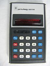RARE 70´s Vintage Calculator calculatrice privilège 851 M + case + manual