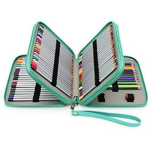 BTSKY Deluxe PU Leather Pencil Case For Colored Pencils - 120 Slot Pencil Holder