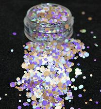 Mezcla de brillo hermoso arte en uñas para Acrílico y Gel de Cascada Lila aplicación