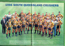 #HH1.   RUGBY BIG LEAGUE MAGAZINE 19-25/7  1995, SOUTH QUEENSLAND CRUSHERS PINUP
